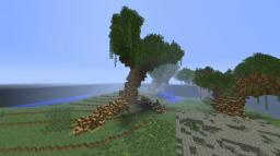 a giant tree i built with my freind Minecraft Map & Project
