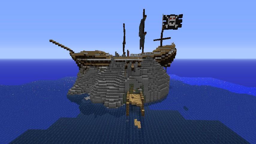 Pirate Flag Shipwreck Island Minec...