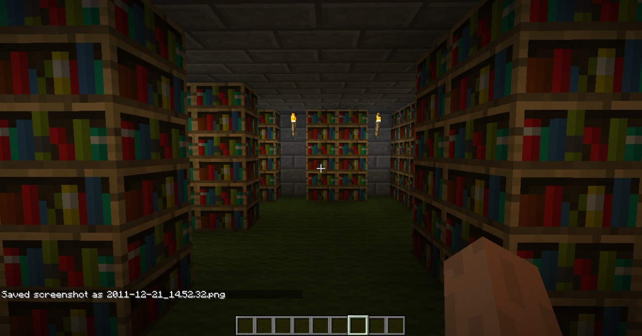 Small libary(somewhere 3 very usefull chests)