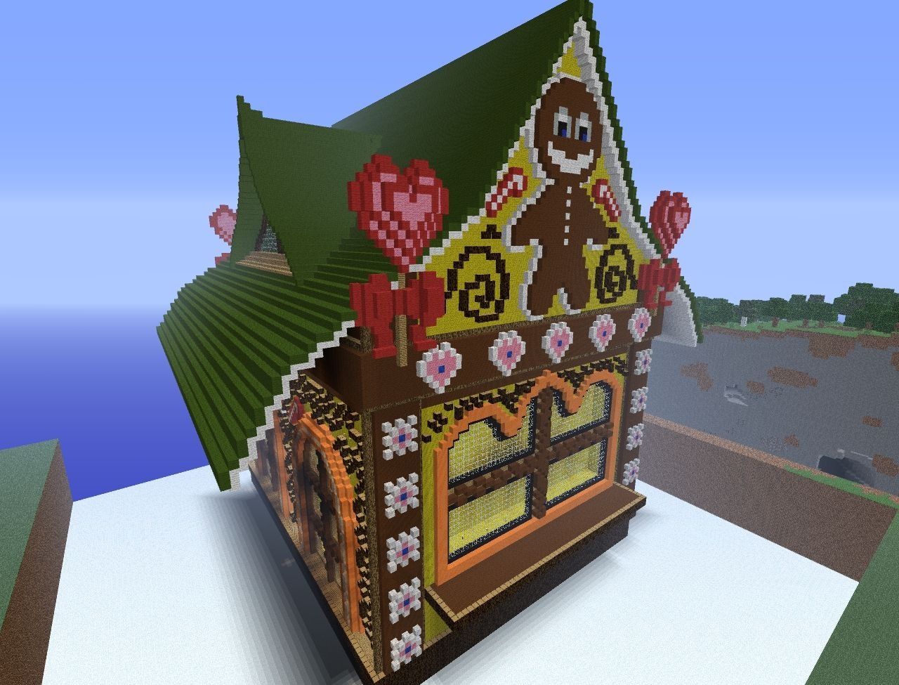 Gigantic gingerbread house minecraft project for How do you make a gingerbread house