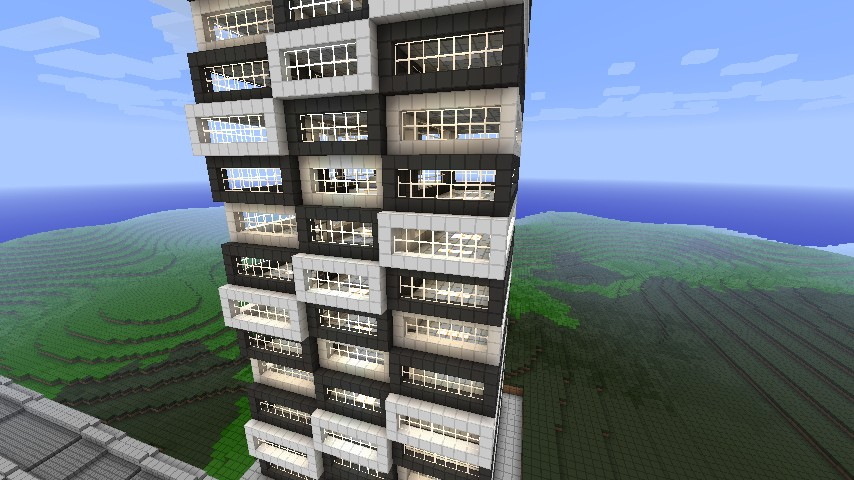 modern apartment building by xprtplyr minecraft project