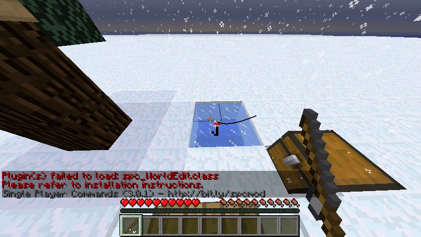 how to get to the north pole in minecraft