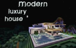 Modern Luxury House Minecraft Map & Project
