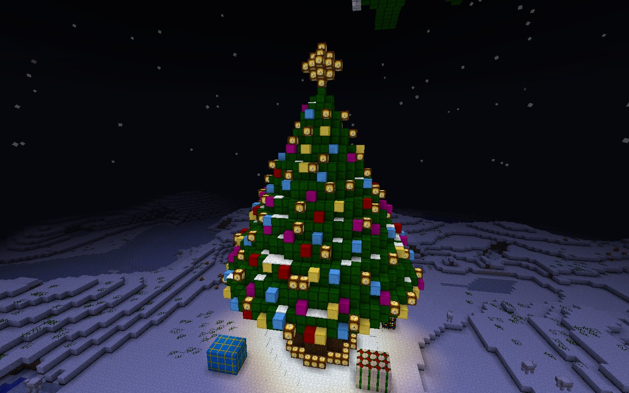 Christmas Wonderland With Christmas Tree Minecraft Project