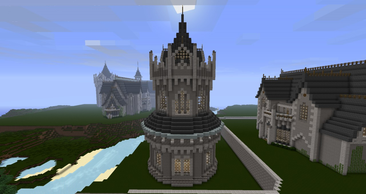 Minecraft Spiral Tower Staircase : Kings crossing tower minecraft project
