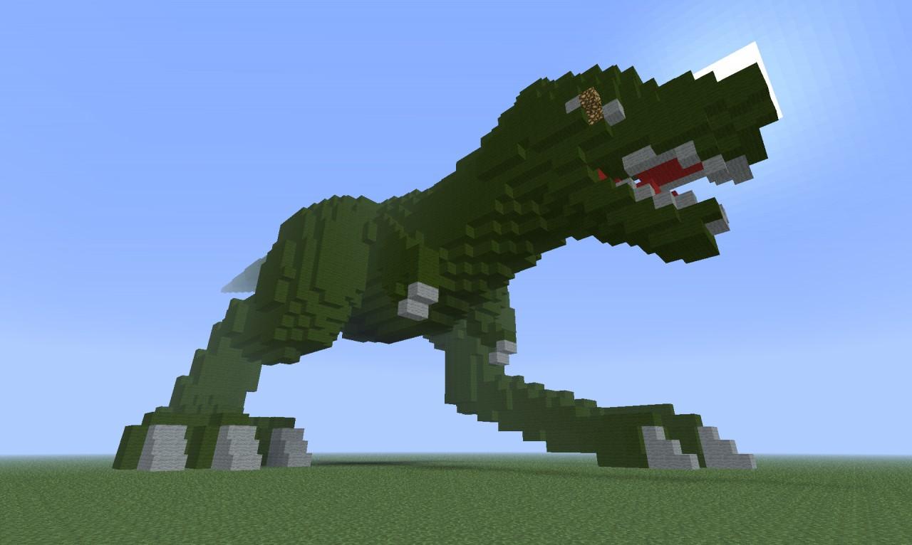 как сделать динозавра в майнкрафте без модов #7
