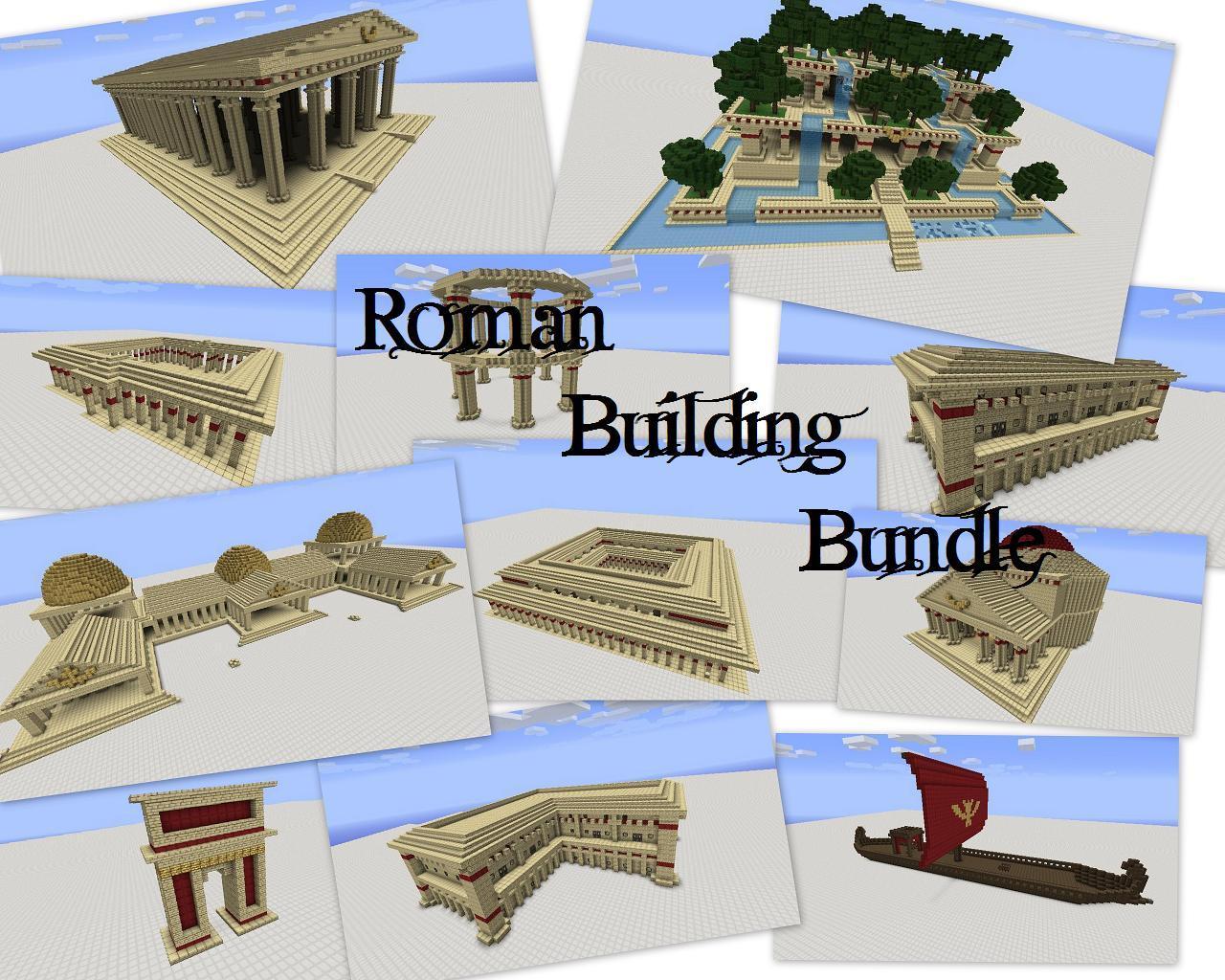 Greek Architecture Minecraft roman building bundle minecraft project