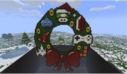 Pixelated Gaming Wreath Minecraft