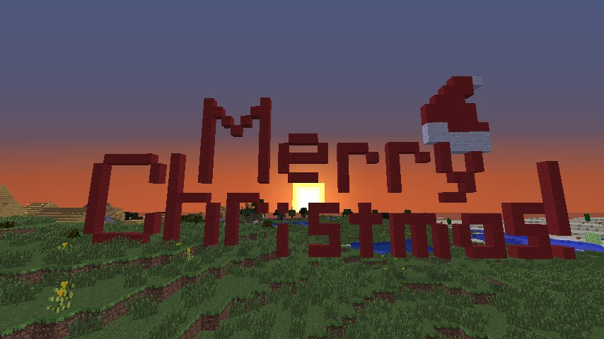Merry Christmas Pixel Art Minecraft Project
