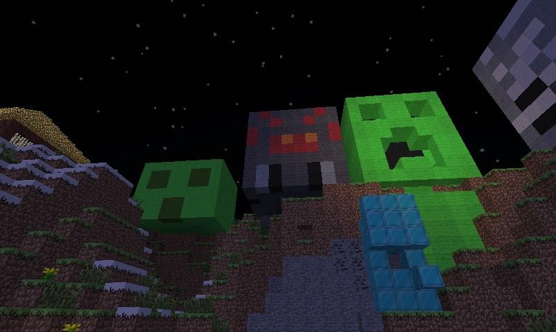 Pixel Art Spider Head Minecraft Project