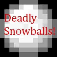 Deadly Snowballs 1.0.0 Minecraft Mod