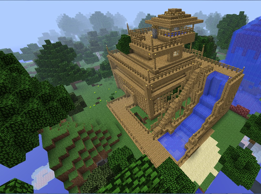 Wooden House. Minecraft Project
