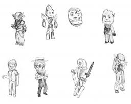 Preliminary Sketches: Moderators WIP Part 2 Minecraft