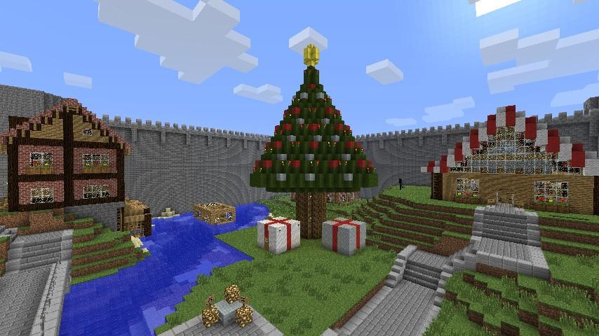 Minecraft Christmas Tree.Giant Christmas Tree Minecraft Project