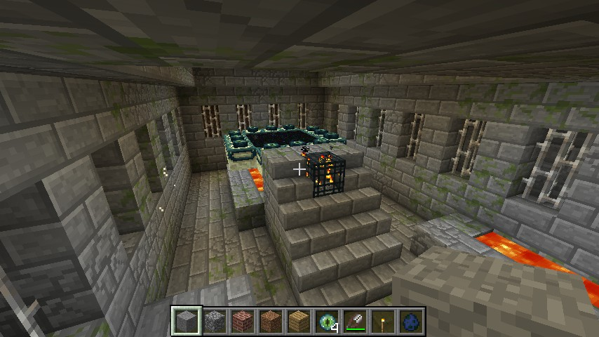 End Portal Room Minecraft Project