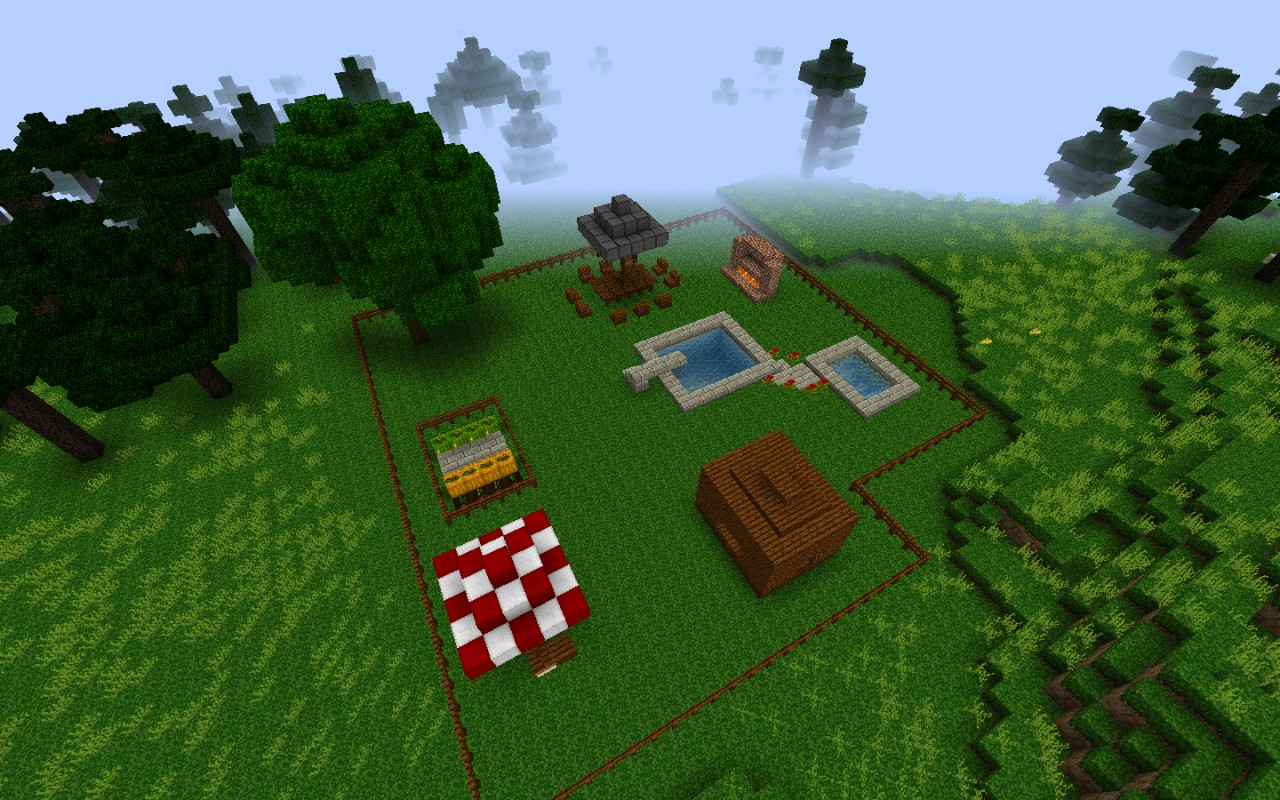 Little nice back yard minecraft project for Garden designs minecraft