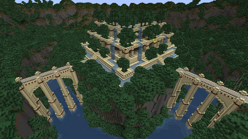 Hanging gardens minecraft project for Garden designs minecraft