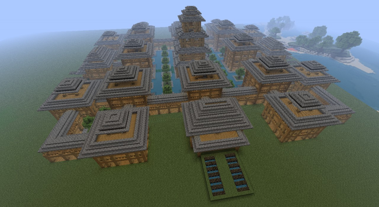 Asian Village Asiatisches Dorf Minecraft Project