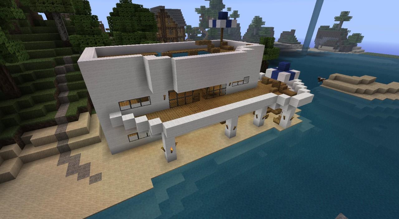 Beachhouse Strandhaus V 2 Minecraft Project