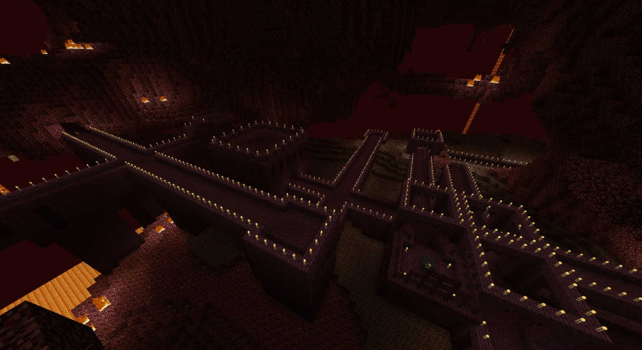 Minecraft Nether Fortress Inside Minecraft Nether Fortress