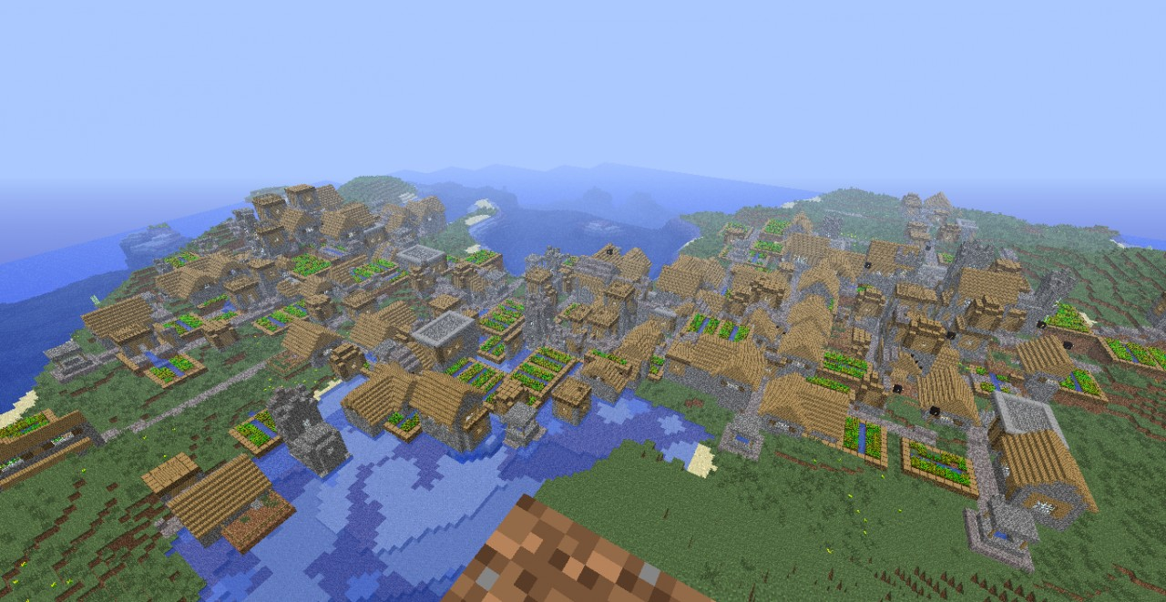 Biggest npc village ever! It's Herobrine work! Perfect for ...