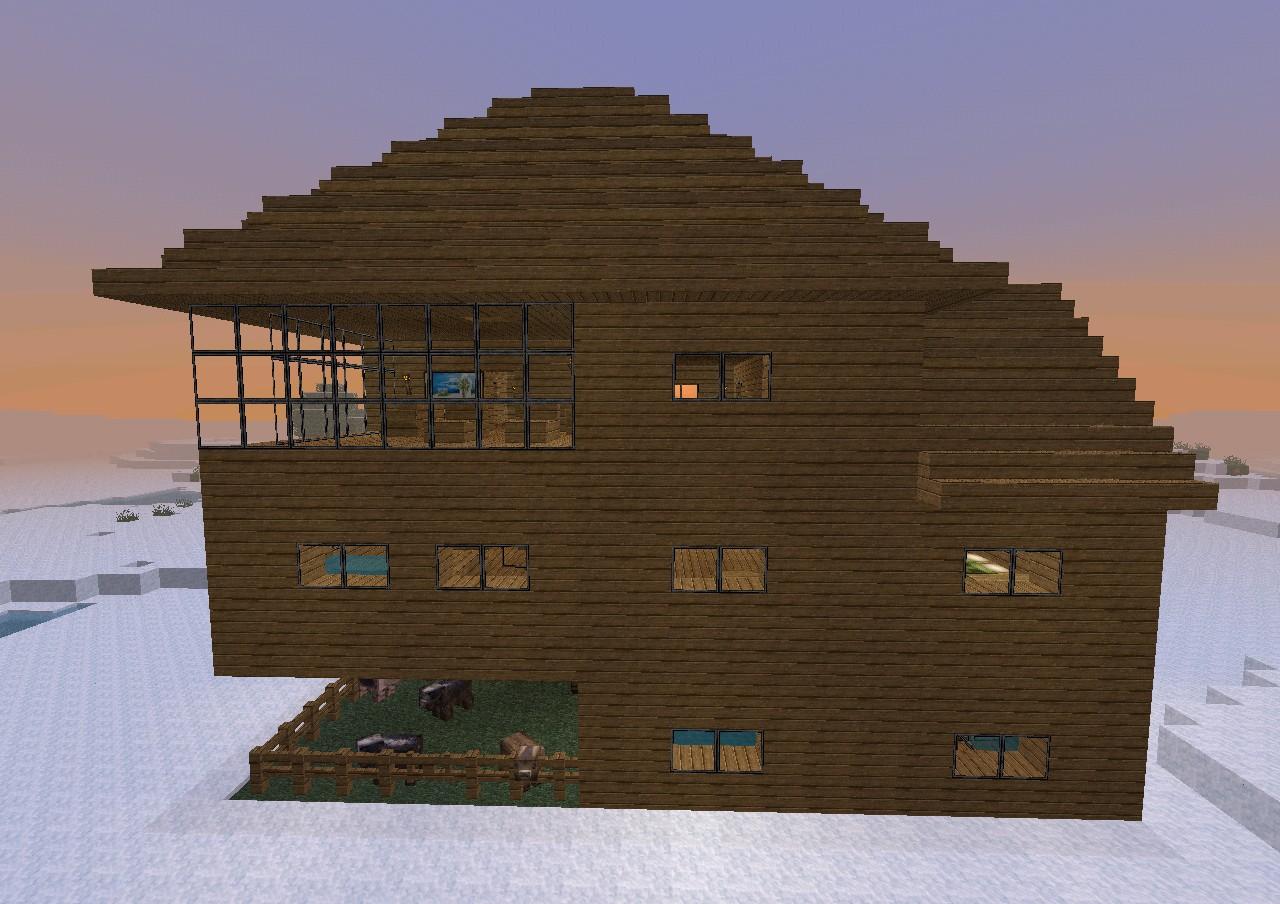 Winterhaus minecraft project for Minecraft holzhaus