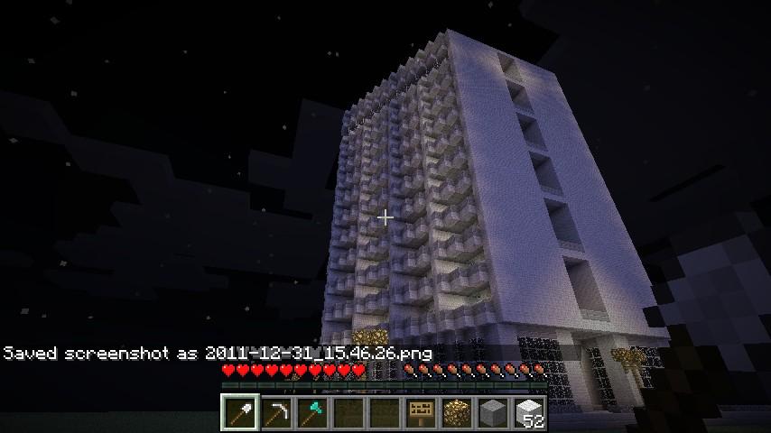 12 Floors Hotel Minecraft Project