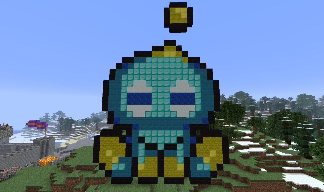 Assorted Pixel Art Minecraft Project