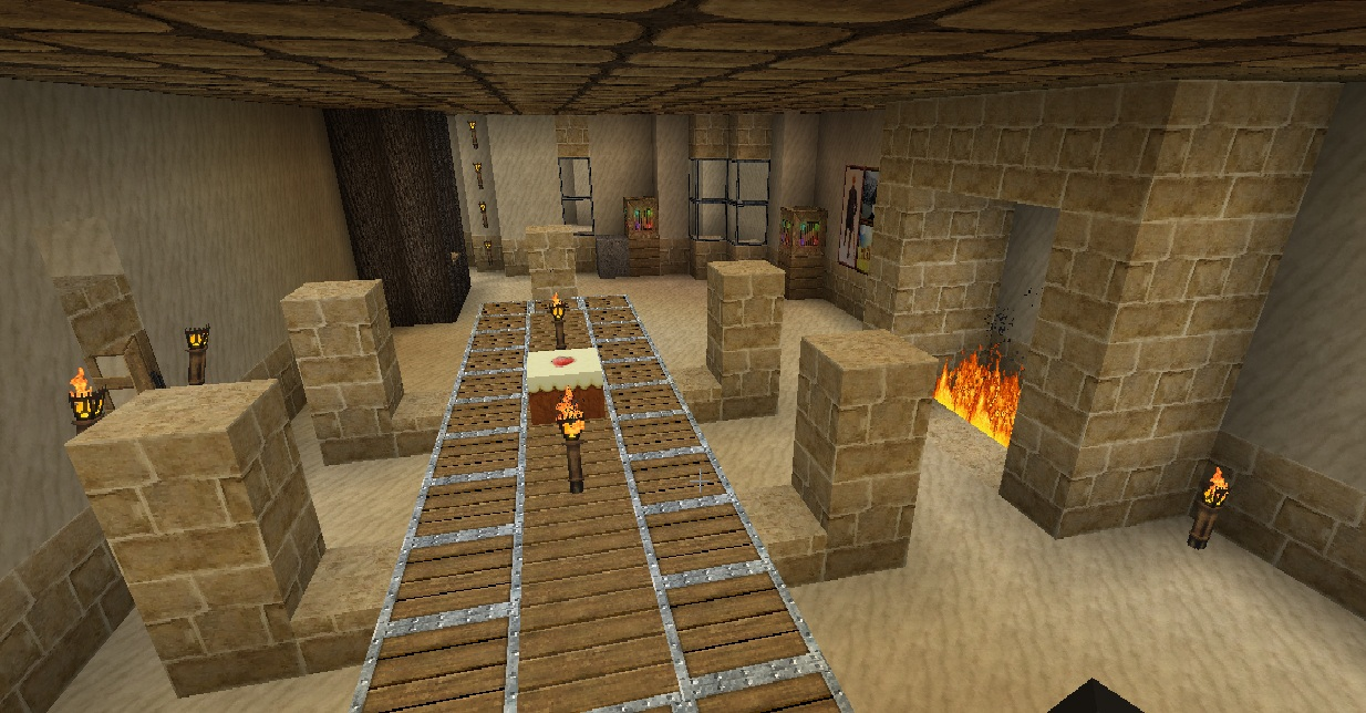 Desert kingdom minecraft project for Minecraft dining room designs