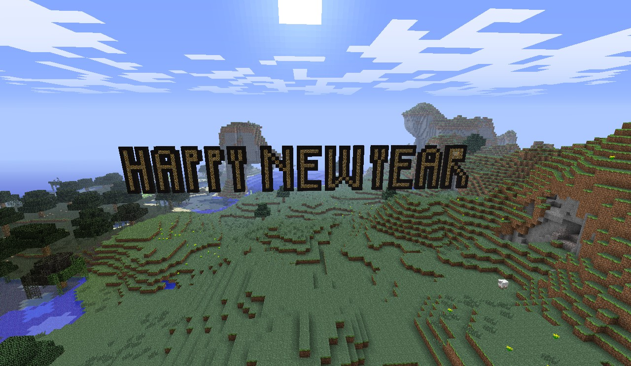 Happy New Year Minecraft Project
