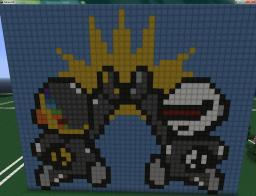 Daft punk pixel art Minecraft