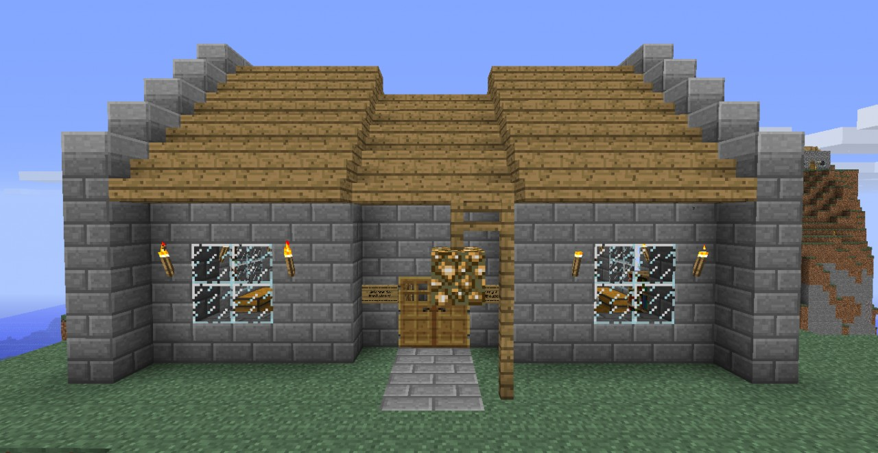Minecraft Stone Brick House Designs images
