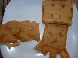 Creeper my first pancake art Minecraft Blog Post