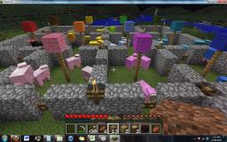 Color Sheep Farm with Netherbrick/Wool House Minecraft Map & Project