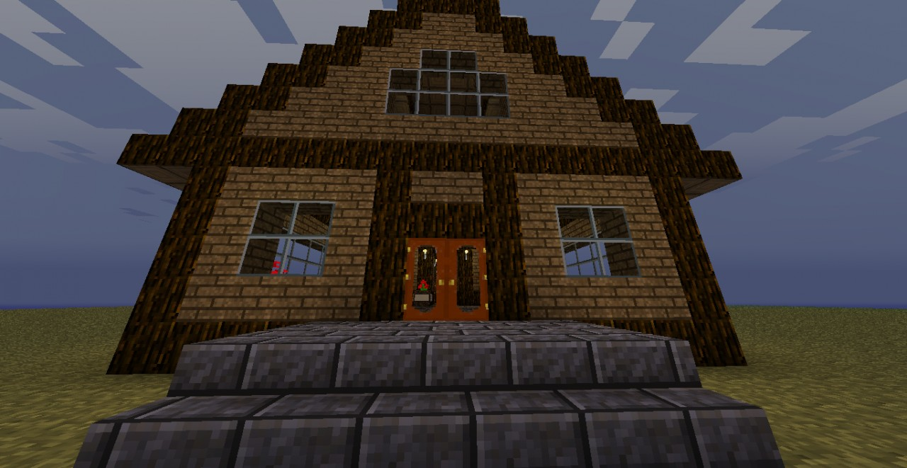 Minecraft Log Cabin ~ Small log cabin minecraft project