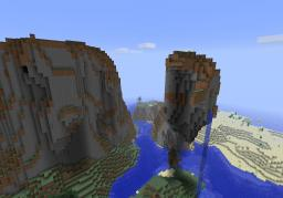 awsome seed!!!   with giant mountains and floating islands Minecraft