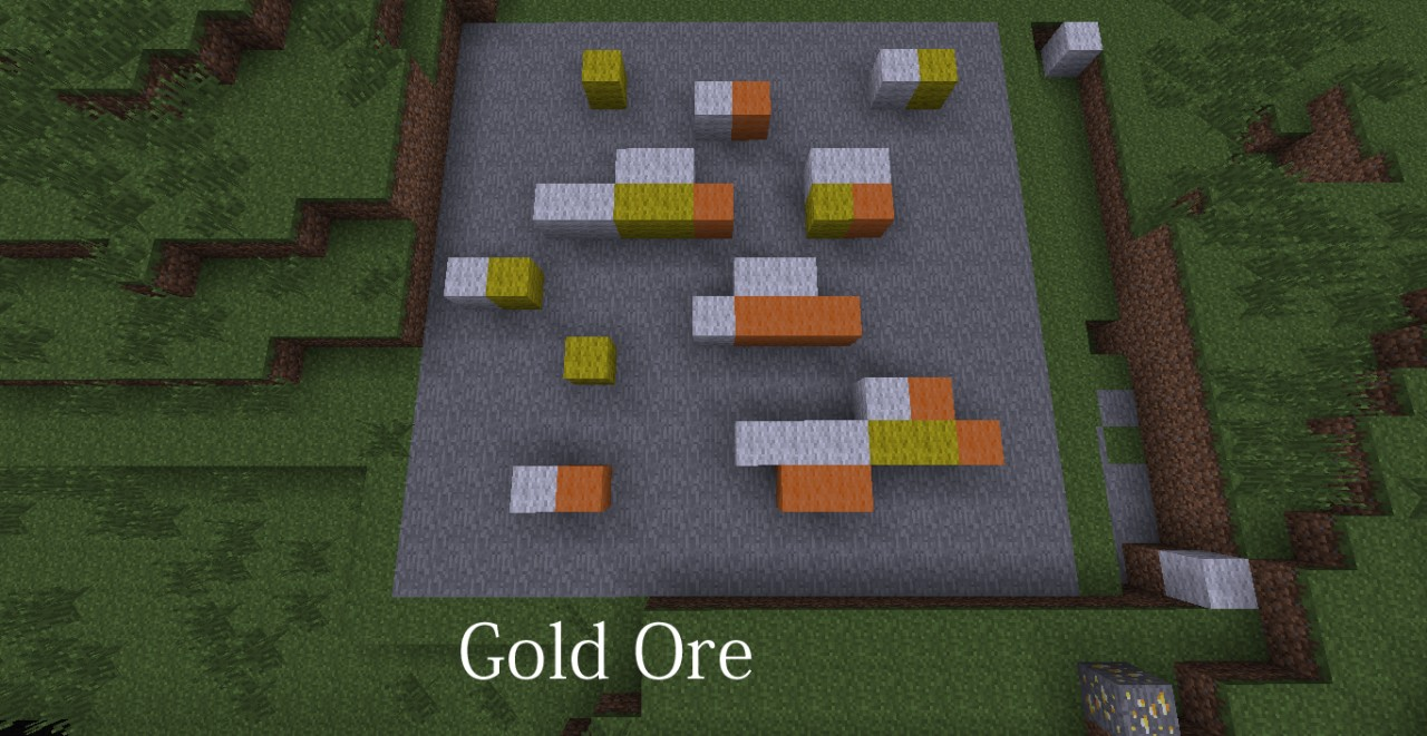 Gold Ore Minecraft Wallpaper
