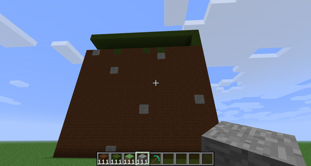 how to make a grass block in minecraft