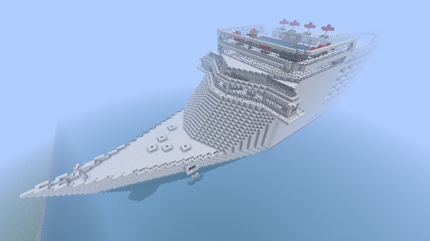 Minecraft cruise ship front
