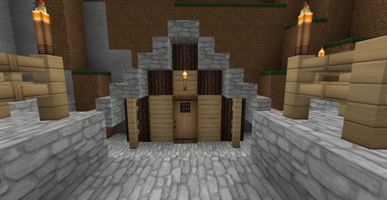 Small Mansion With Shed Minecraft Project