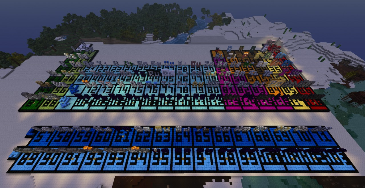 Giant periodic table minecraft project the whole table at dusk urtaz Images