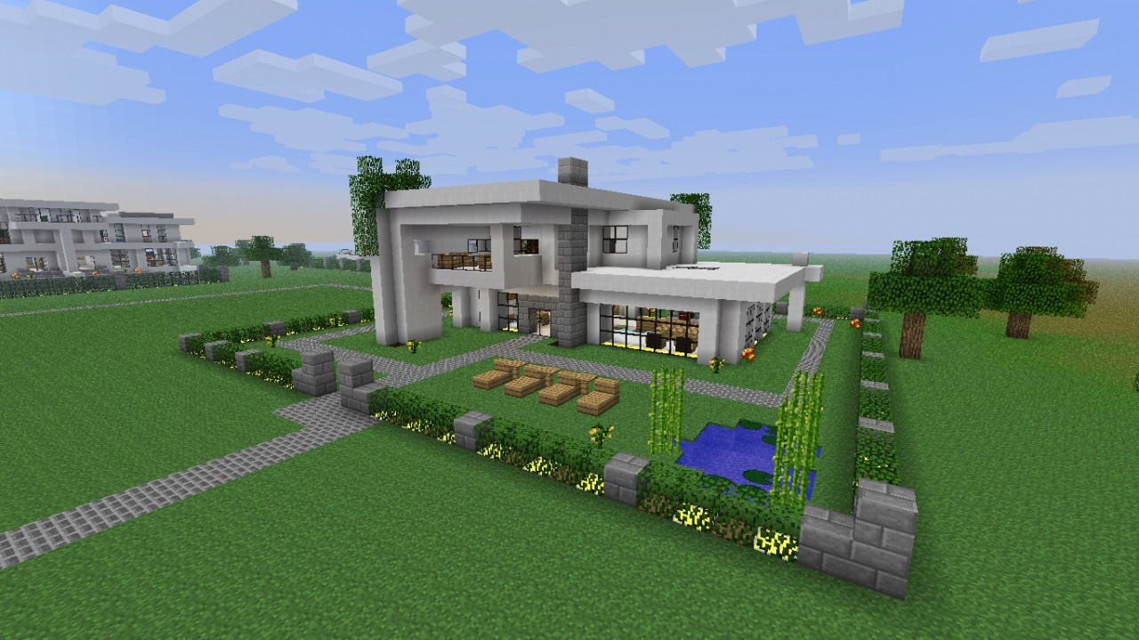 Modern Neighborhood House Four Download Minecraft Project