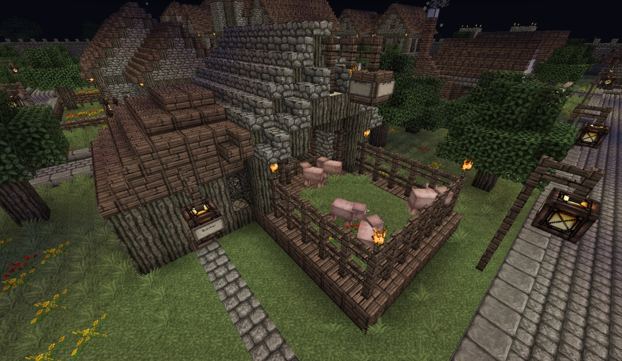 Medieval Butcher Shop Minecraft Project
