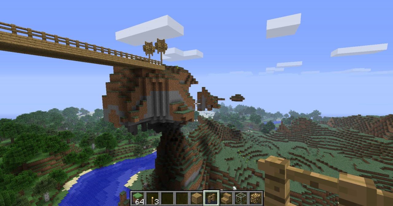 Epic bridge and cliffs