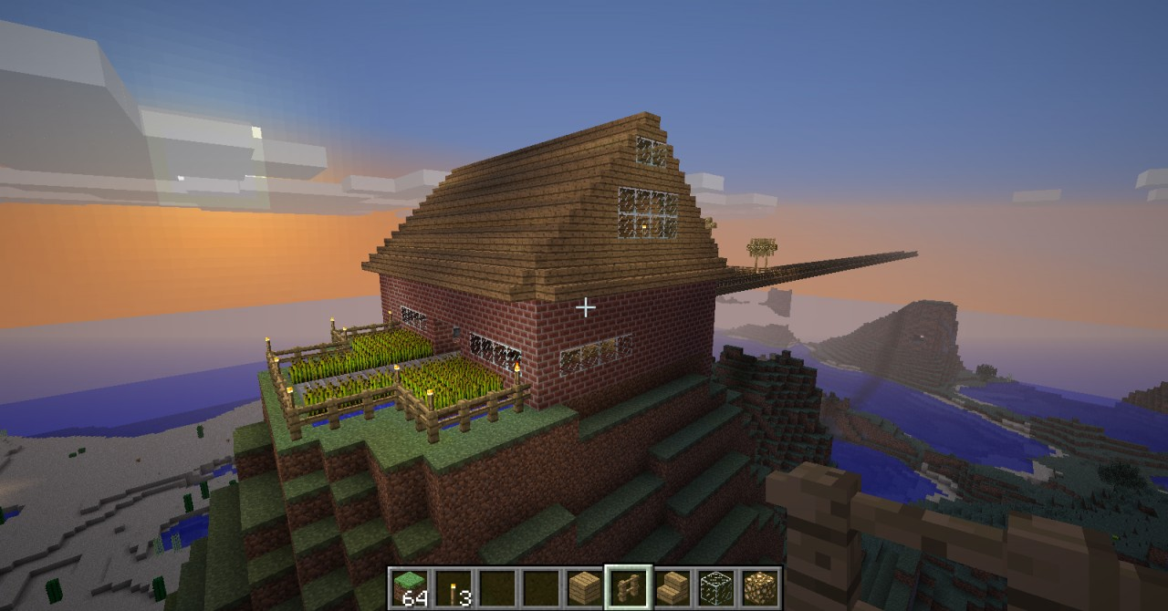 exellent the biggest house in world minecraft built on
