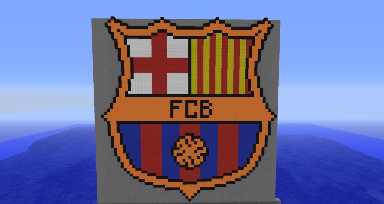 Barcelona logo - Pixel art Minecraft Project