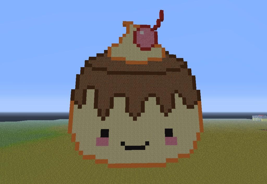 Flan Pixel Art. Minecraft Project