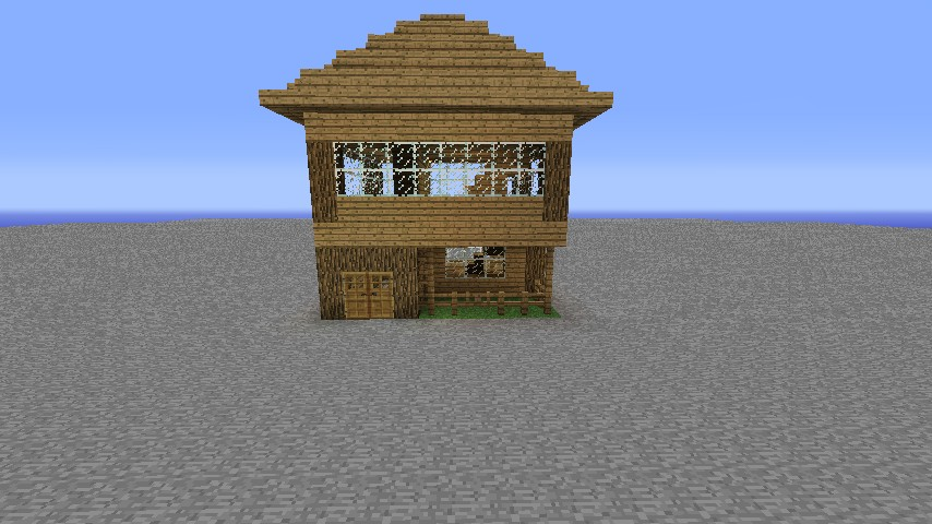 Simple House Blueprint Minecraft Project - Minecraft hauser easy