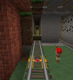 Creeper Mini-rollercoaster Minecraft Project