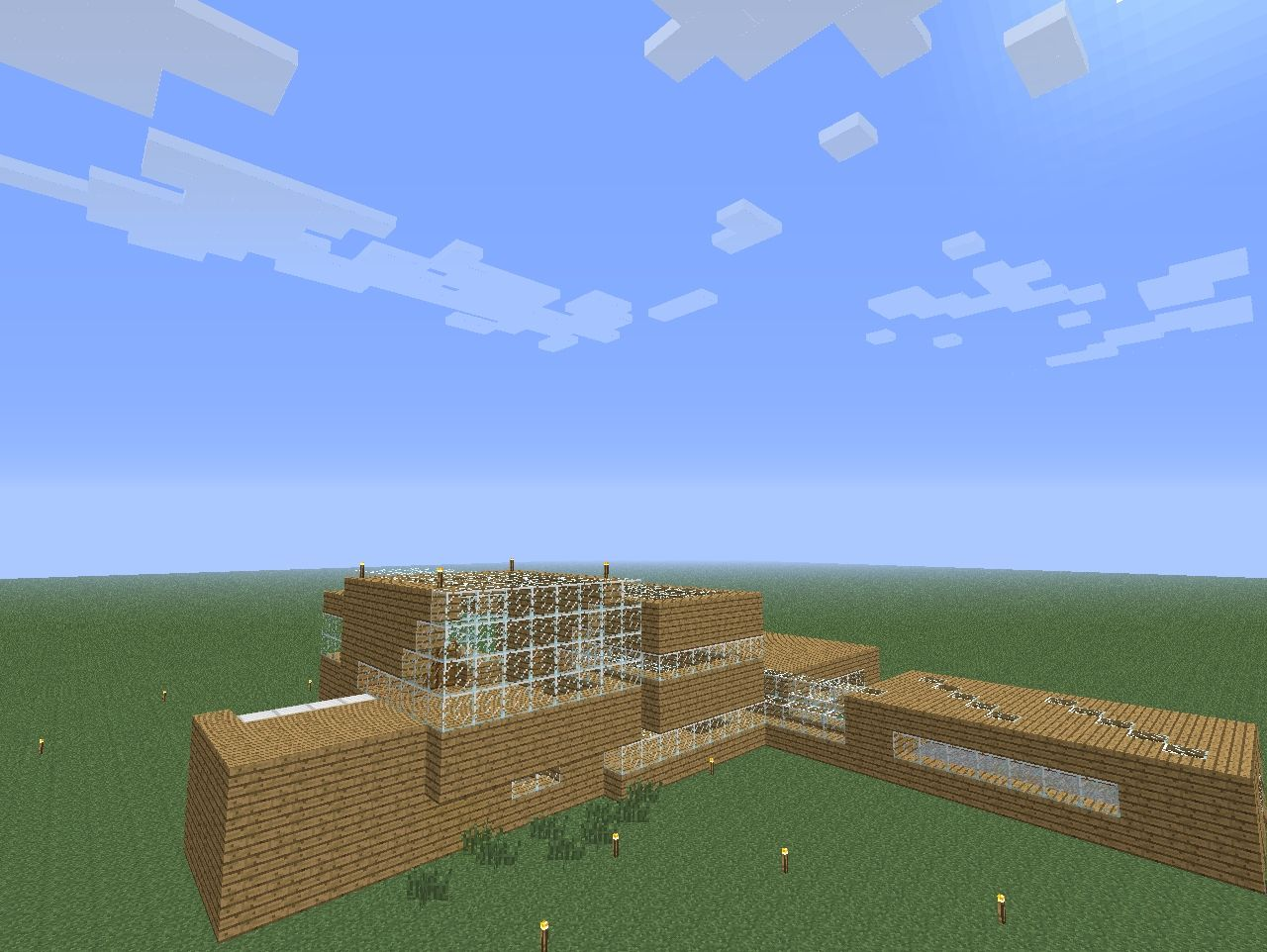 how to build a big wooden house in minecraft